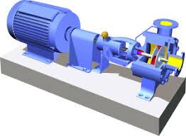Відцентровий насос Вікіпедія Типова схема двигуна і відцентрового насоса