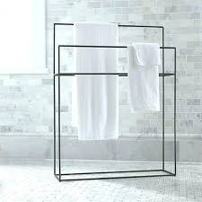 Free Standing Towel Racks For Bathrooms Brushed Nickel Freestanding