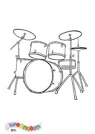 Kleurplaat Drumstel Zappelin