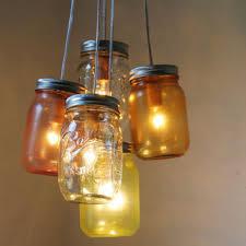 ball jar lighting. Carnival - Mason Jar Chandelier 5 Pint Ball Jars Brushed Nickel Ceiling Plate \u0026 Lighting