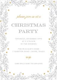 White Christmas Invitations Holiday Party Invitations Match Your Color Style Free Basic