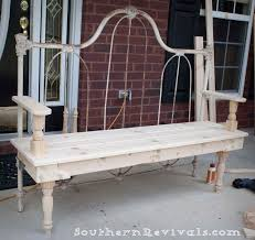 iron bed frame benches diy repurposed metal headboard bench benches on wrought iron garden benches images