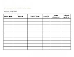 Numbered Raffle Ticket Template Sample Raffle Sheet Templates Word