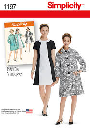 Vintage Simplicity Patterns Magnificent Simplicity 48 Misses' Vintage Dress And Lined Coat