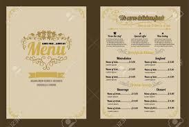 Food Menu Design Restaurant Food Menu Vintage Design With Chalkboard Background