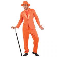 Superb Mens Dumb Orange Suit Costume