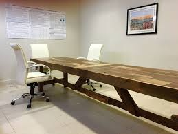 extra long office desk. Custom Made Extra Long Reclaimed Wood Conference Table Extra Long Office Desk L