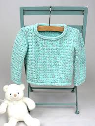 Crochet Baby Sweater Pattern Inspiration Baby Pullover Sweater Crochet Pattern FaveCrafts