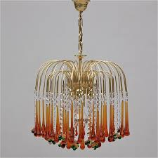 murano glass chandelier along with vintage teardrop high