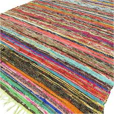green colorful woven chindi boho bohemian area rag rug decorative 3 x 5 ft