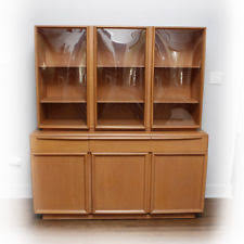 mid century hutch. Simple Mid Heywood Wakefield Midcentury Modern China Cabinet Credenza Hutch 50u0027s  Champagne For Mid Century