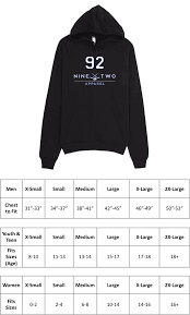 American Apparel Youth Size Chart Pre Game Custom Lapis
