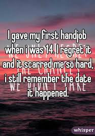 I gave my first handjob