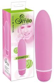 Розовый <b>вибратор Smile Mini</b> Comfy - 13 см.