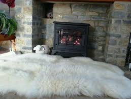 fur rug fireplace naps for days