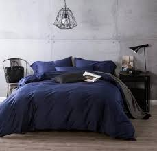 luxury navy blue egyptian cotton bedding sets sheets bedspreads king size queen quilt duvet cover bed in a bag linen double 4pcs in bedding sets from home