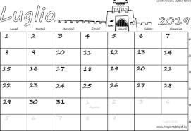 Calendario Luglio 2019 Stampabile Pdf Liberi Di Stampa