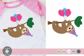 Weekly free svg cut file diy craft inspirations & videos click this link for more. Sloth Birthday Svg Sloth Clipart Sloth Sublimation 305612 Svgs Design Bundles