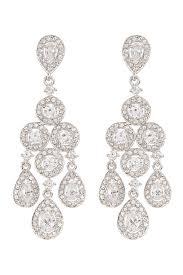 lyst nadri crystal chandelier earrings in metallic