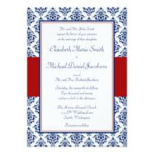 red white blue invitations & announcements zazzle Wedding Invitations Red And Blue navy blue and red damask wedding invitations red white and blue wedding invitations