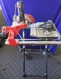 husky tile saw parts. lot # : 57 - husky tile saw w/ base/stand model thd950l parts e
