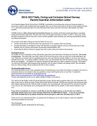 School Survey Questions 2016 2017 Safe Caring And Inclusive School Survey For Parents