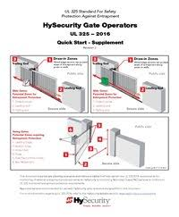hysecurity ul 325 quick start guide gate safety monitored entrapment wiring diagrams