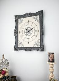 ornate frame to wall clock upcycled picture frame how to make a wall clock