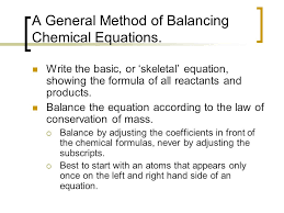 a general method of balancing chemical equations