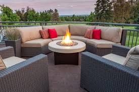 round gas fire pit table. Amazon.com: Oriflamme Gas Fire Pit Table Tuscan Stone. The Award Winning Leader In Outdoor Tables. (38\ Round