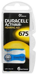 <b>батарейки</b> для слуховых аппаратов Duracell ZA675/<b>PR44</b>-6BL по ...