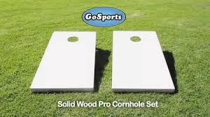 Wooden Lawn Games GoSports Solid Wood CornHole Reviews Wayfair 78