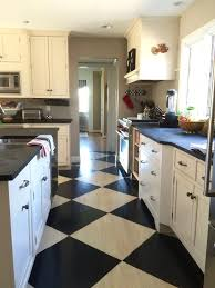 Checkered Kitchen Floor How To Paint A Farmhouse Black And White Painted Checkered Floor