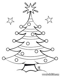 Decorated christmas tree coloring pages - Hellokids.com