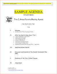 Meeting Outline Sample Agenda Of Meeting Sample Ninjaturtletechrepairsco 4