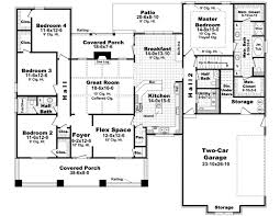 4 bedroom house plans. bungalow style house plans 2400 square foot home 1 story 4 bedroom and