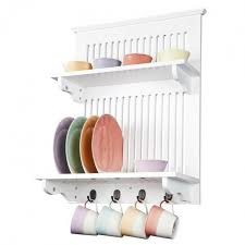 wall mounted plate rack bowl canister