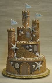 11 Sand Castle Wedding Cakes With Topper Photo Sand Castle Wedding