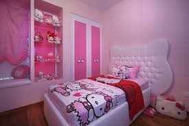 ... Kids' bedroom with exclusive Hello Kitty bedding, plush toys and an  overdose of pink