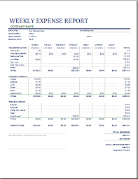 Company Weekly Report Template Guatemalago