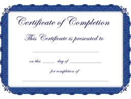 free certificate of completion template free certificate of completion template