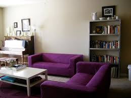 Purple Accessories For Living Room Purple Wooden Sofa Design Cute That Can Be Decor With White Table