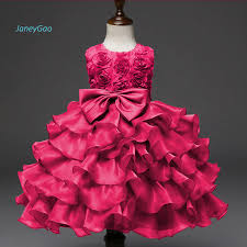 JaneyGao 2019 <b>New Arrival Flower</b> Girl Dress Red With Bow ...