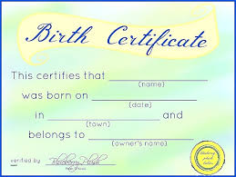 Pink Baby Reborn Doll Birth Certificates Certificate Template