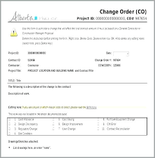 Free Change Order Template