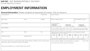 old navy job application printable job employment forms jobs description and remuneration