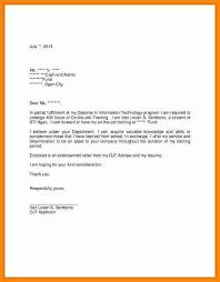 Student Application Letter For Ojt Sample Professional Letter Formats