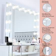 Hanging Bathroom Lights Xl Landscape Vanity Mirror With Dimmable Lights