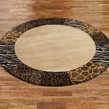 round leopard animal print rugs