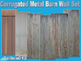 corrugated metal barn wall set